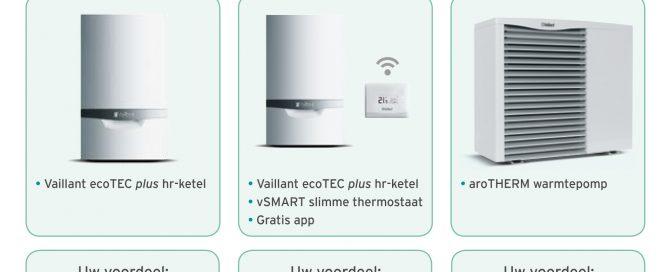 voordeel op vaillant cv-ketel en warmtepomp