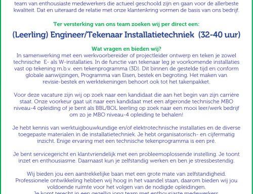 (Leerling)  Engineer / Tekenaar Installatietechniek