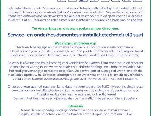 Service- en onderhoudsmonteur installatietechniek (40 uur)