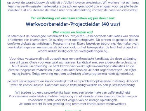 Werkvoorbereider-Projectleider